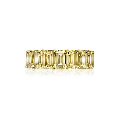 Золотое кольцо-дорожка огранки Изумруд KOJEWELRY™ 5076