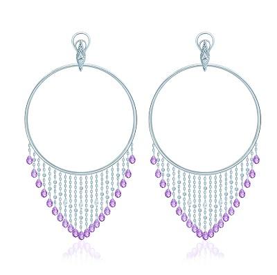 Серьги-обручи violet  KoJewelry 40605