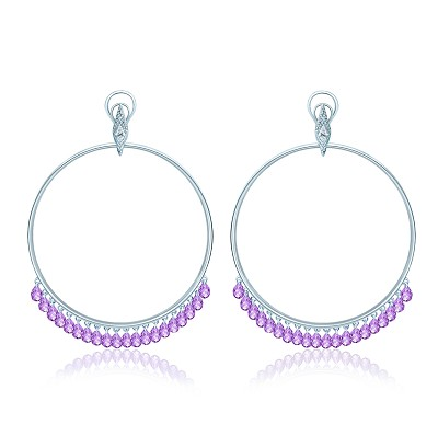 Серьги-обручи violet KoJewelry 40705