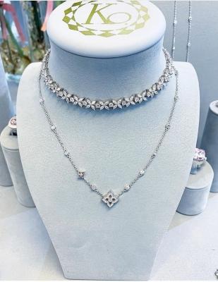 Чокер  FLOWERS серебро 925 KOJEWELRY™5059