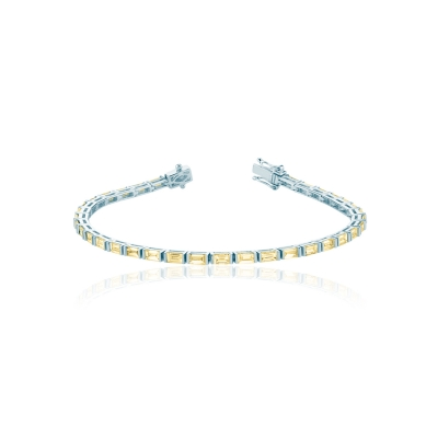 Браслет Tennis buguette серебро 925  KOJEWELRY™ 50103