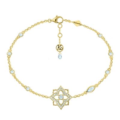 Браслет на руку HYDRANGEA «One flower» серебро 925  KOJEWELRY™ 63110Y