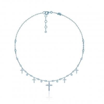 Колье 5 Crosses серебро 925  KOJEWELRY™ 62400