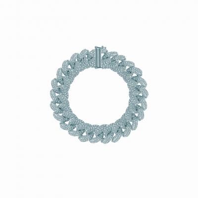 Браслет на руку PAVE CHAINS  12mm серебро 925  KOJEWELRY™ 20000/16