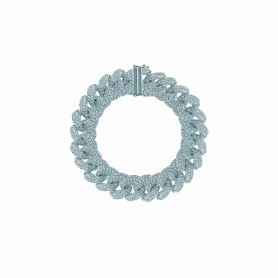 Браслет на руку PAVE CHAINS  12mm серебро 925  KOJEWELRY™ 20001/18