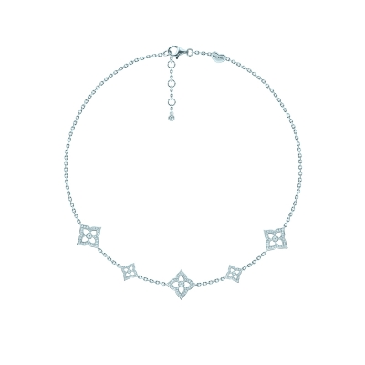 Чокер 5 FLOWERS HYDRANGEA серебро 925 KOJEWELRY™ 63700