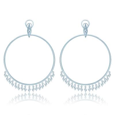 Серьги-обручи серебро 925 KOJEWELRY™ 11100