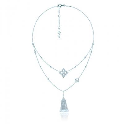 Двойное колье HYDRANGEA серебро 925 by KOJEWELRY™ 64300