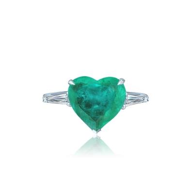 Кольцо Heart Mini цвета изумруд KOJEWELRY™ 610029