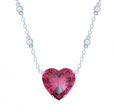 Колье Heart цвета розовый рубин KOJEWELRY™ 30306