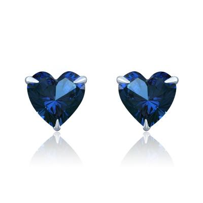Пусеты Hearts mini серебро 925 цвет сапфир KOJEWELRY™ 30207
