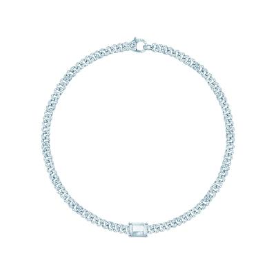 Колье Pave Chains 5mm с камнем Buguette  by KOJEWELRY™ 20900
