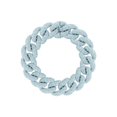 Браслет Maxi Pave links 15 mm серебро 925 by KOJEWELRY™ 21400/16