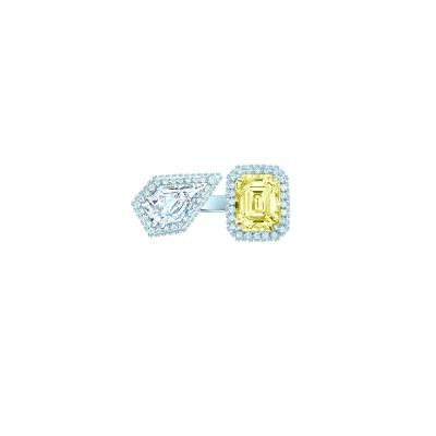 Кольцо Moi et Toi серебро 925 KOJEWELRY™ 70203