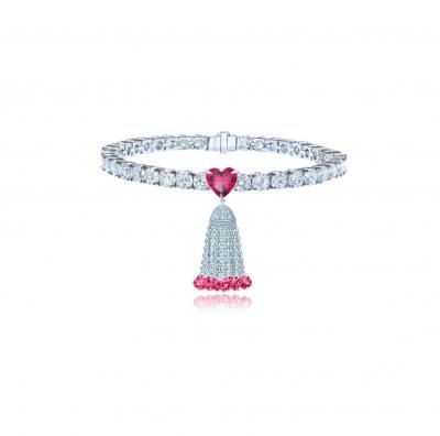 Браслет Tennis  Heart с Кисточкой 10 мм  серебро 925 KOJEWELRY™ 30506 / 0
