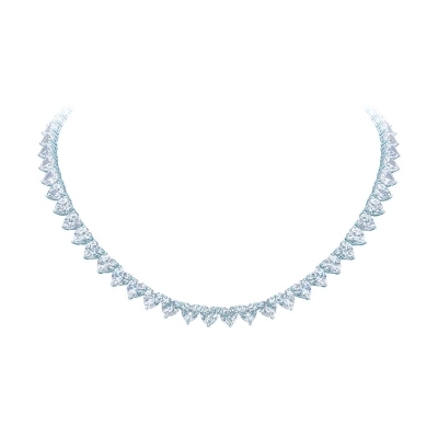 Колье Hearts, серебро 925, кубические цирконии. KOJEWELRY™ 610060 / 1