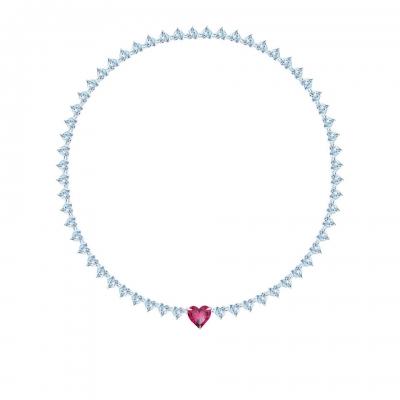 Колье Hearts, серебро 925, кубические цирконии. KOJEWELRY™ 610068