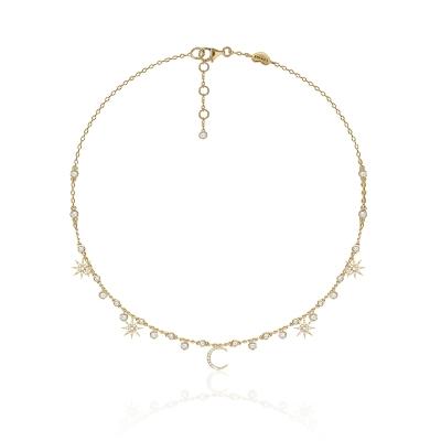 Колье  Star&Moon серебро 925, покрытие жёлтое золото.  KOJEWELRY™ 62510Y