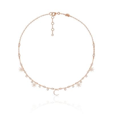 Колье  Star&Moon серебро 925, покрытие розовое золото. KOJEWELRY™ 62520R