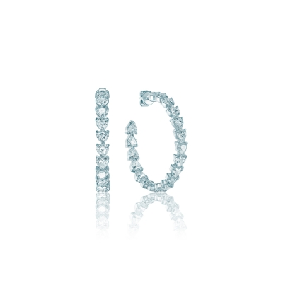 Серьги обручи Eternity серебро 925 KOJEWELRY ™ 610191
