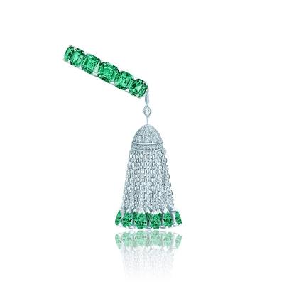 Кольцо Eternity огранки Ашер с кисточкой серебро 925 KOJEWELRY ™ 610232